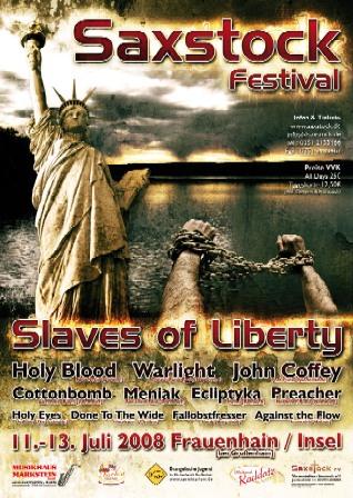Plakat Saxstock 2008
