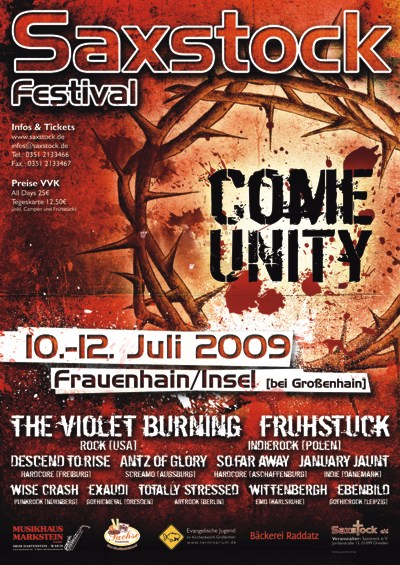 Plakat Saxstock 2009