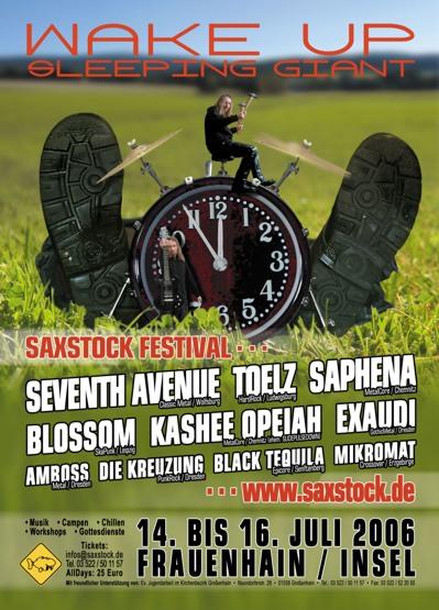 Saxstock - Plakat